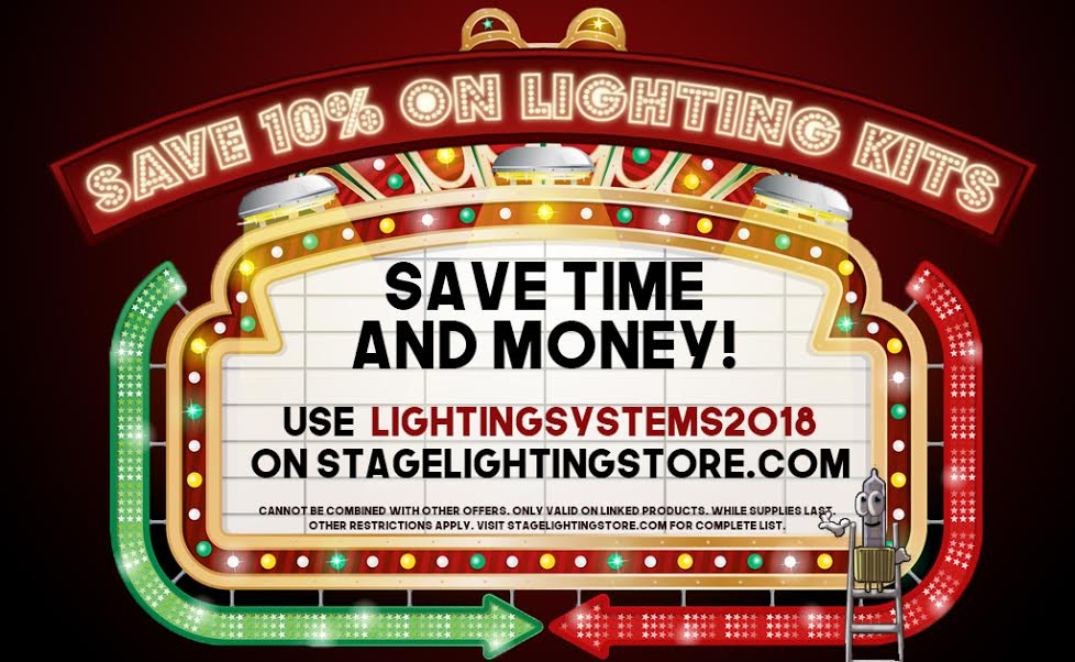 save 10% on lighting systems